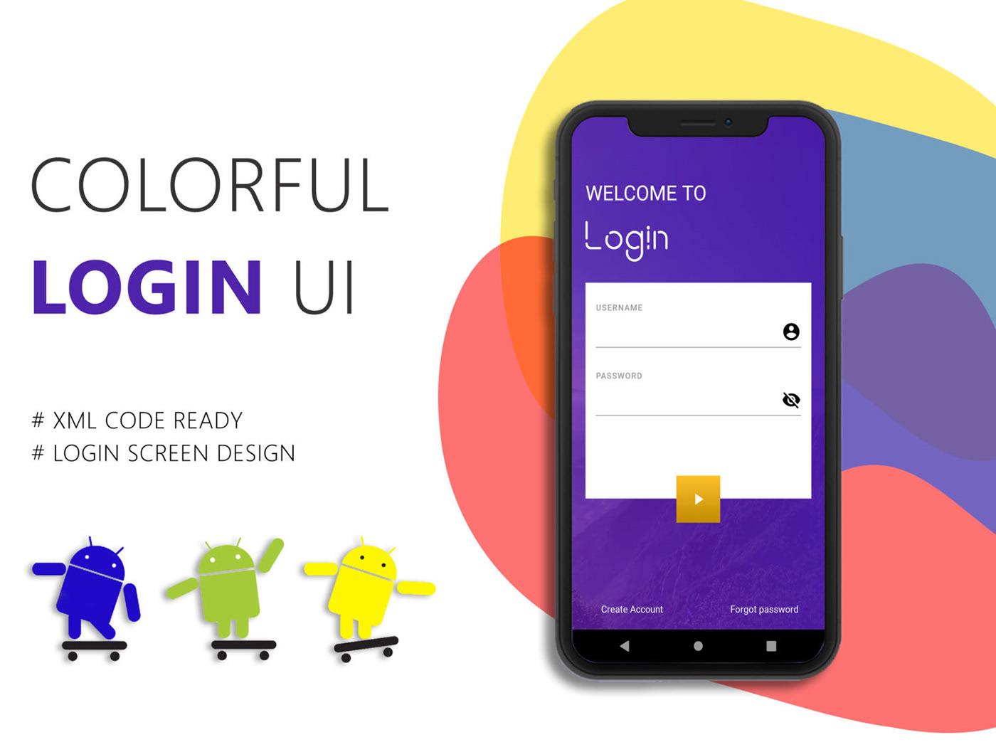 Colorful Login UI Kit