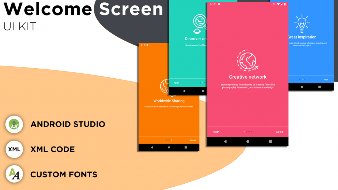 Welcome Screen UI Kit Download