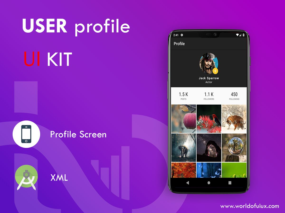 Profile UI Kit Free