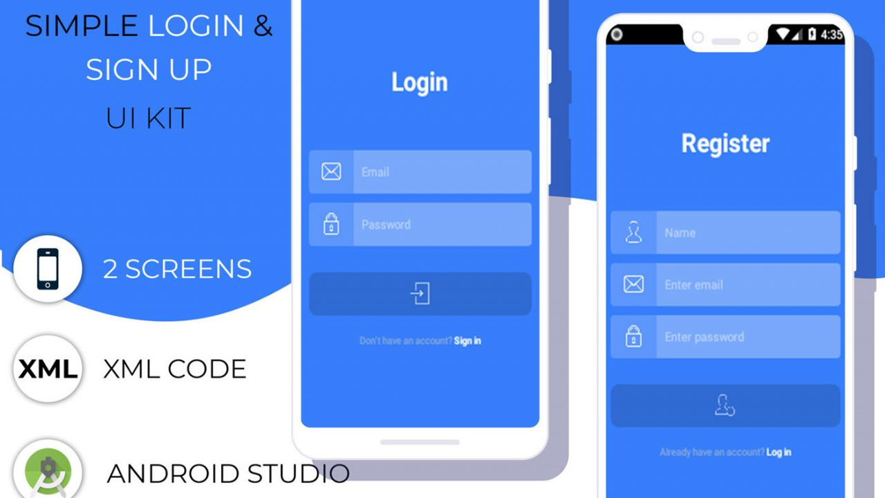 Simple Login & Sign Up UI Kit