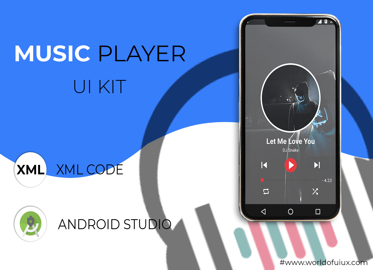 music player ui kit free