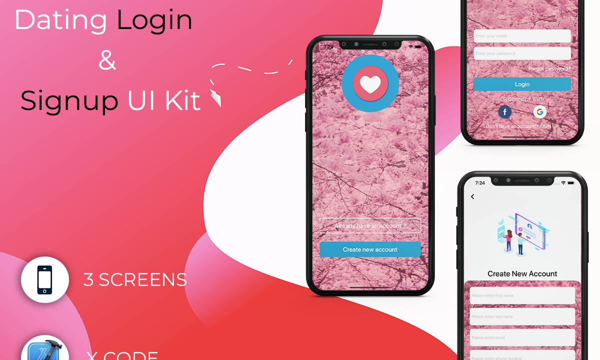 Dating Login & Signup UI Kit