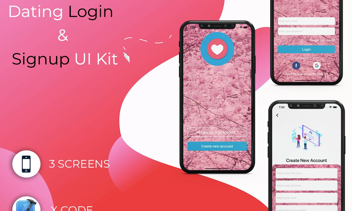 Dating Login & Signup UI Kit