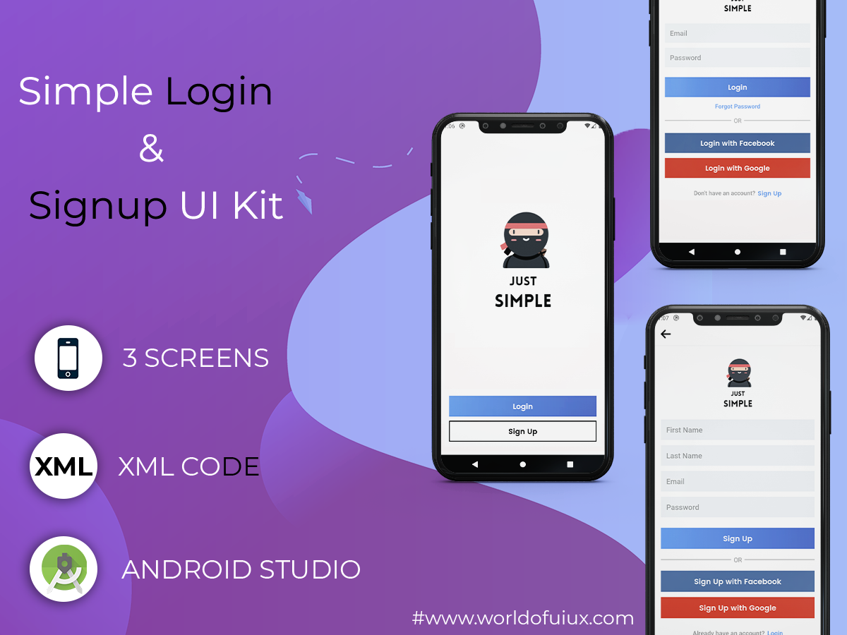 Simple Login and Signup UI Kit